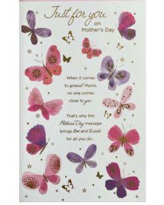 Mother's Day - Pink & purple butterflies