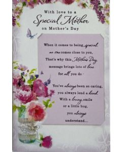 Mother's Day - 'Special Mother' vase of flowers