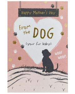 Mother's Day - From the Dog - White heart