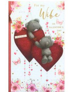 Valentine Card - For My WIFE (Teddies)