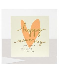 ANNIVERSARY Card - You Mean the World to Me