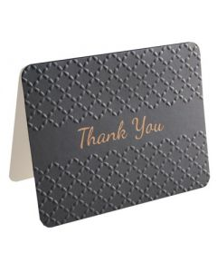 Thank You Cards - Embossed BLACK (10 cards)