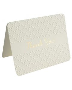Thank You Cards - Embossed CREME (10 cards)