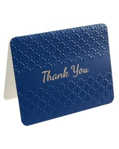 Thank You Cards - Embossed NAVY (10 cards)
