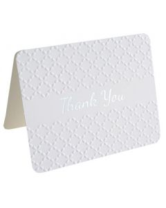 Thank You Cards - Embossed WHITE (10 cards)