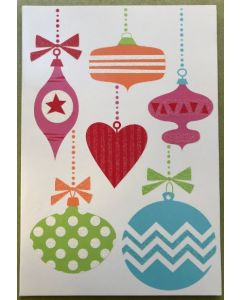 Christmas card pack - Festive Baubles