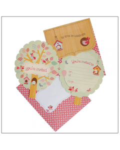 Little People Bird Invitation Kit