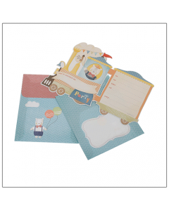 Steam Train Invitation Kit