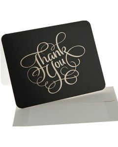Thank You Cards - Black/Gold (10 cards)