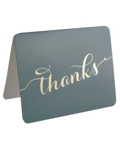 Thank You Cards - Charcoal Grey/Gold (10 cards)