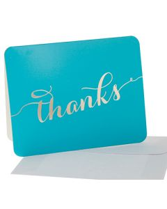 Thank You Cards - Teal/Gold (10 cards)