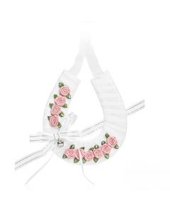 Horseshoe with Dusted Pink Flowers