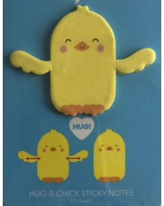 Hug-a-chick sticky notes