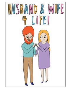 'Husband & Wife 4 Life' Card