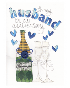 'To my Husband on Our Anniversary' Card