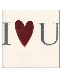 'I Love U' Card