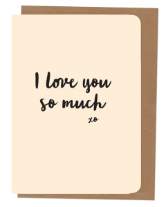 'I Love You so Much' Card