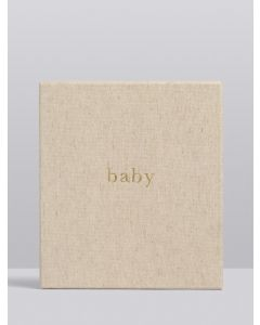 Boxed Baby Keepsake Journal - OATMEAL
