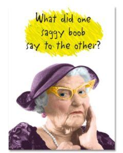 Birthday Card - Saggy Boob