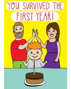 'You survived the first year!' Card