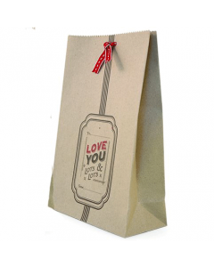 'Love You Lots' Kraft Gift Bag