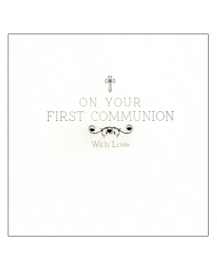 'On Your First Communion' Card