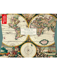 'Four Hemisphere World Map' Writing Set