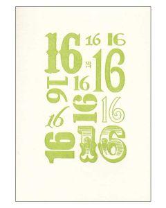 '16' Card