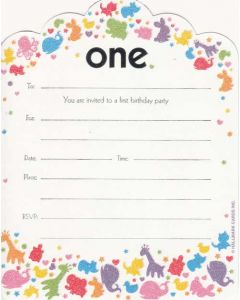 Age One Birthday Invitations