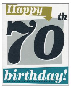 'Happy 70th Birthday!' Greeting Card