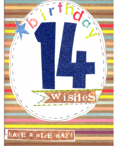 '14 Birthday Wishes' Card
