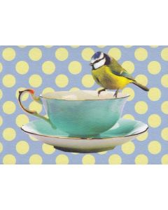 Bird and Teacup Greeting Card