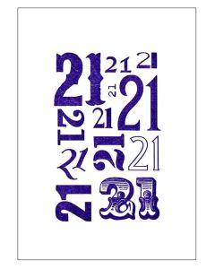 '21' Card