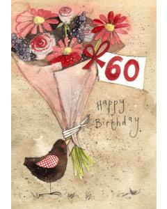 '60 Happy Birthday' Card
