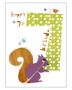 'Happy 7th Birthday' Card