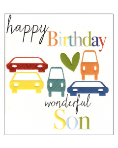 'Happy Birthday Wonderful Son' Card