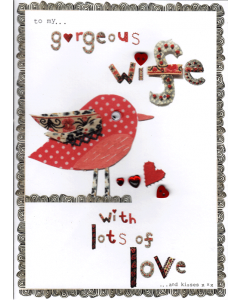 'To My Gorgeous Wife' Card