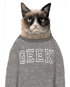 Geek Cat Card