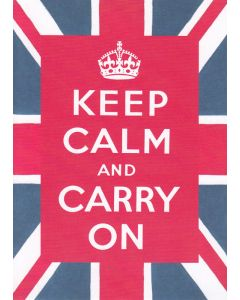 """Keep calm and carry on"" Greeting Card"