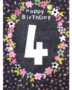 'Happy Birthday 4' Card