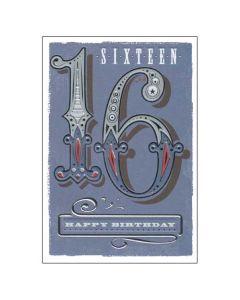 'Sixteen' Card