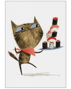 Sushi Cat Card