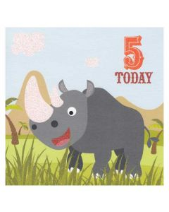 'Five Today' Rhino Card