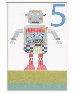 5th Birthday Robot Greeting Card