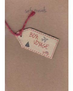Safe Travels Bon Voyage Greeting Card