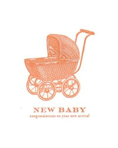 """New Baby, congratulations on your new arrival"" Letterpress Card"