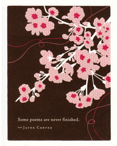 'Some Poems are Never Finished' Card