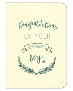 """Congratulations on your Brand New Baby Boy"""