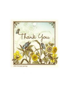 Yellow Bird Paper Greetings Thank You Gift Tag