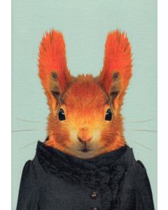 Squirrel Portrait Card